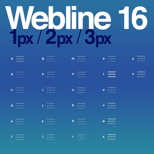 webline16 font